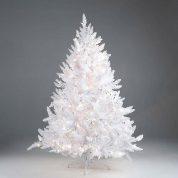 weiße weihnachtsdeko - interessanter tannenbaum