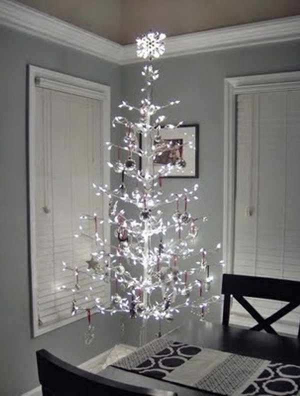 125 prima ideen f r wei e weihnachtsdeko. Black Bedroom Furniture Sets. Home Design Ideas