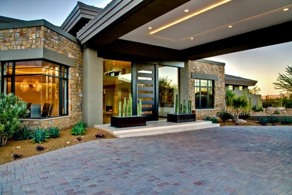 moderne--Architektur-Luxus-Design-Eingang-