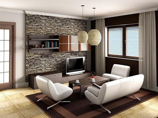 moderne-Wandgestaltung-für-das-Wohnzimmer