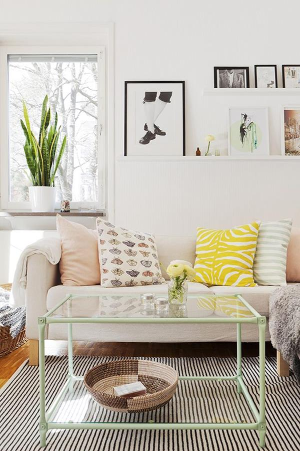 moderne-Wandgestaltung--für-ein-schönes-Wohnzimmer Wandgestaltung fürs Wohnzimmer