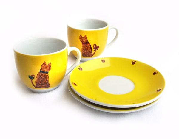 moderne-gelbe-lustige-espresso tassen