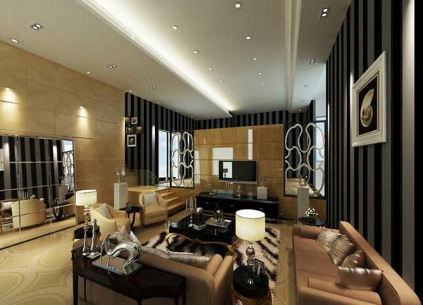 Deckengestaltung - Kreative Raumgestaltungsideen - Freshouse ... Moderne Wohnzimmer Leuchten