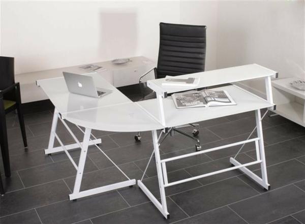 moderner--Schreibtisch-Weiß-Hochglanz