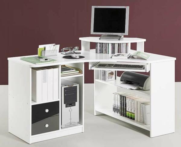 -moebel-Eckschreibtisch-PC-Schreibtisch-Weiss