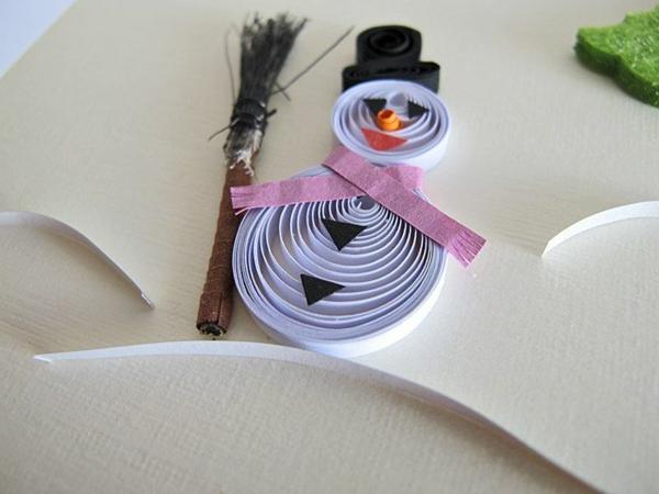origami-zu-weihnachten-cooler-schneeman- süßes foto