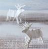 origami zu weihnachten damhirsche in weiß