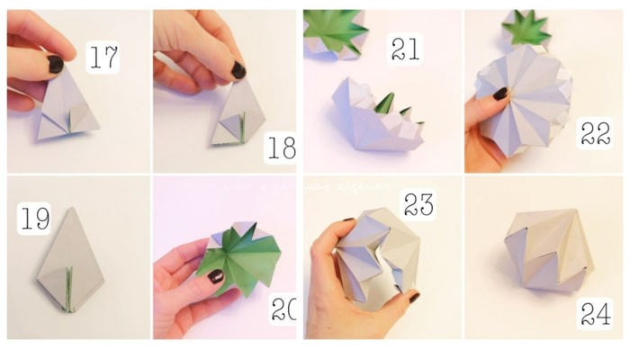 origami zu weihnachten origami diamanten anleitung einfach