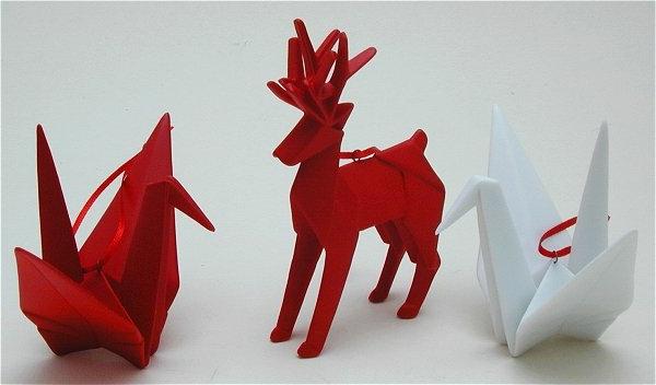 origami-zu-weihnachten-rote-damhirsche - einmaliges foto