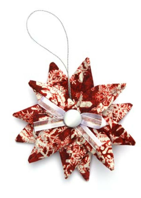 origami-zu-weihnachten-schöner-stern - hintergrund in weiß