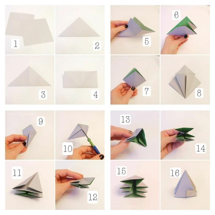 origami zu weihnachten selber machen origami diamanten anleitung basteln