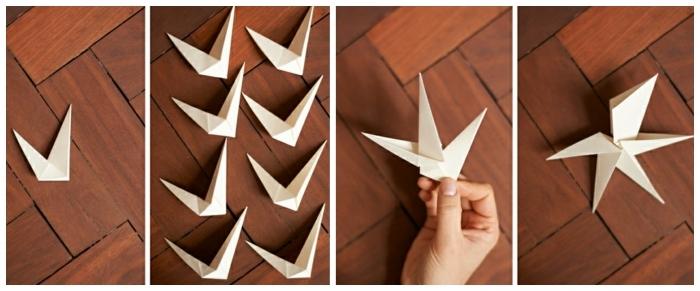 origami zu weihnachten selber machen origami diamanten anleitung basteln schritte fünf sechs