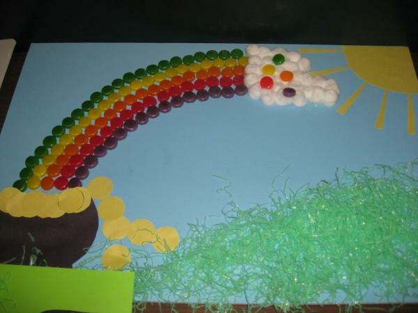 bastelideen für kindergarten - bonbon regenbogen