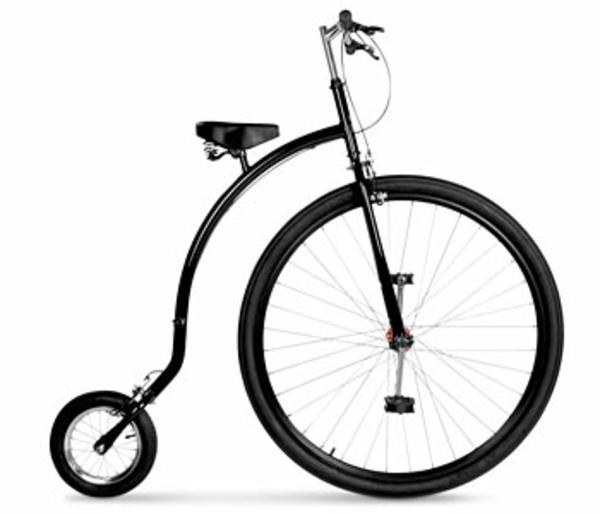 retro-fahrräder-super-design - räder mit unterschiedlicher größe