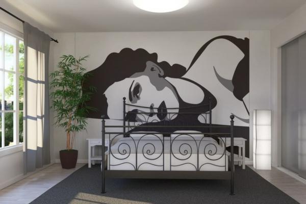 retro-tapeten-im-schlafzimmer