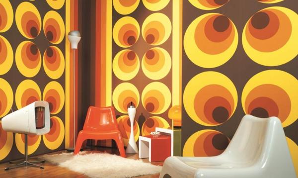 retro-tapeten-orange-farbschemen