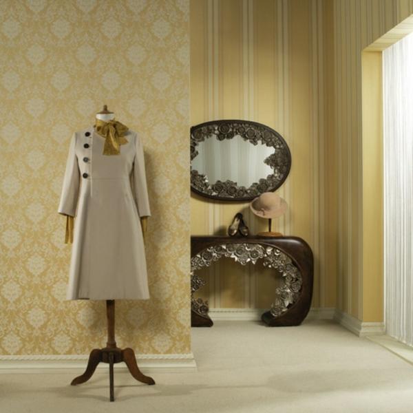 retro-tapeten-super-zimmer-mit-einem-spiegel