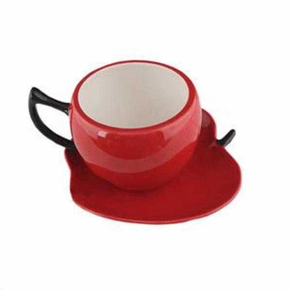 rote-espresso tassen-wie-äpfel-aussehen