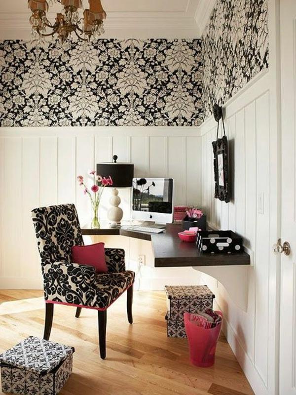 schöne-Ideen-für-das-Interior-Schreibtisch-Schwarz