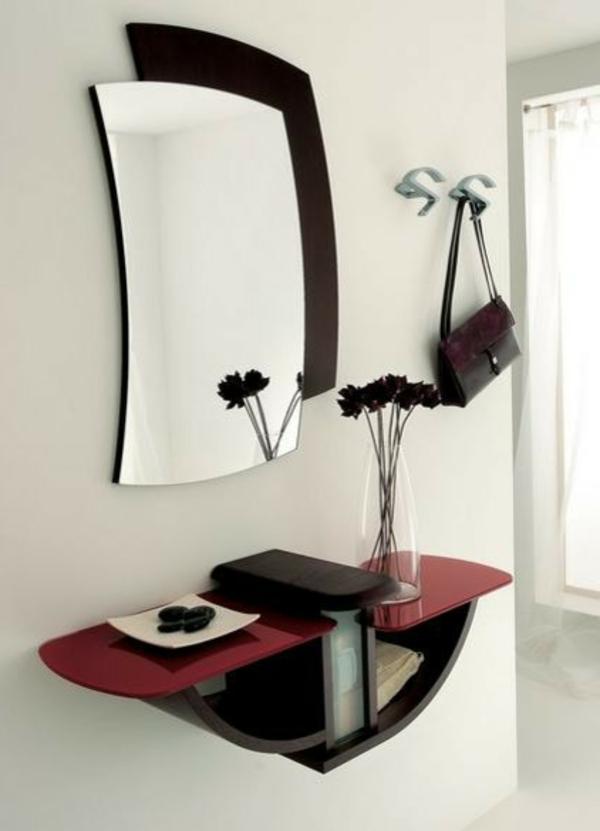 schöne-Ideen-für-das-Interior-mit-Holzmöbeln-für-den-Flur-moderner-Spiegel