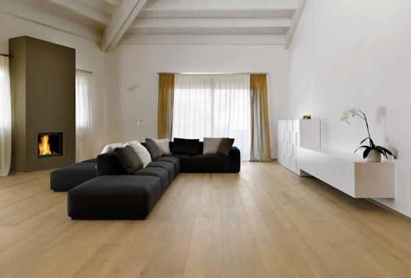 wohnzimmer ideen parkett:Parkettboden – Stil und Klasse in 130 Fotos!