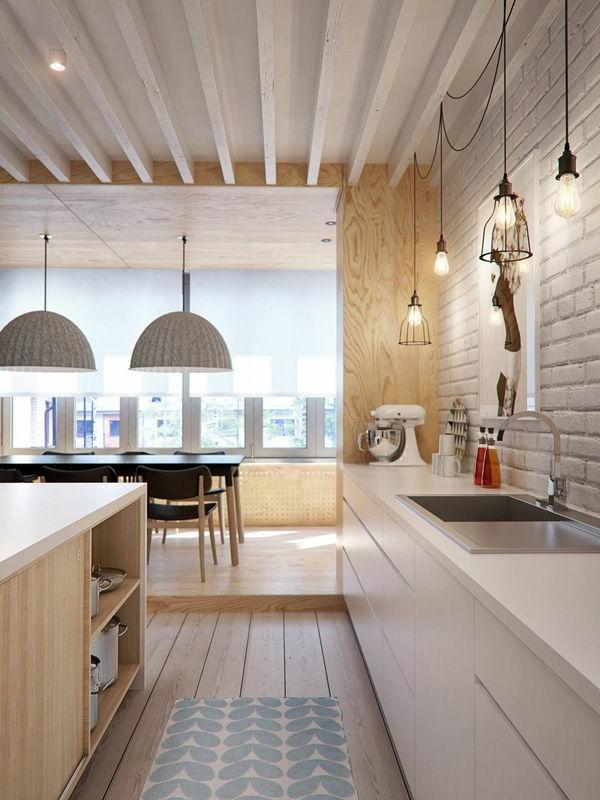 schöne-Ideen-für-das-Interior-mit-Parkett-in-der-Küche