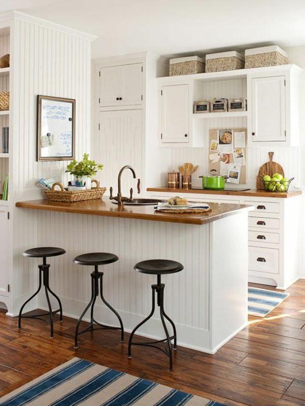 Parkettboden dunkel küche  120 Raumdesigns mit Holzboden - Archzine.net