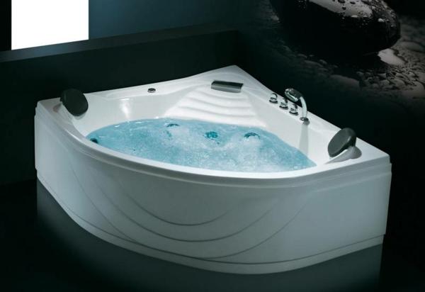 schicke-eckbadewanne - in weißer farbe