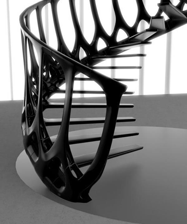 schwarze-Treppen-mit-außerordentlichem-Design-Interior-Ideen