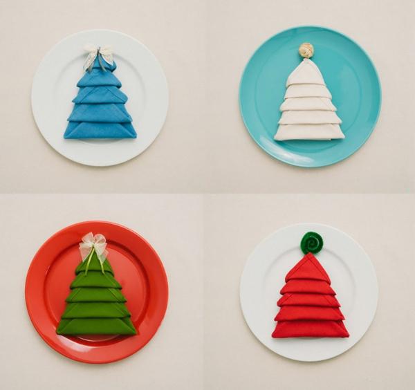 Servietten falten: Weihnachten Deko-Ideen! - Archzine.net
