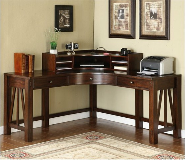 small-corner-desk-ideas-astounding-small-corner-desk-with-hutch-and-Wooden-Material-and-Drawer-Simple-Corner-Desk-Ideas-For-Small-Spaces