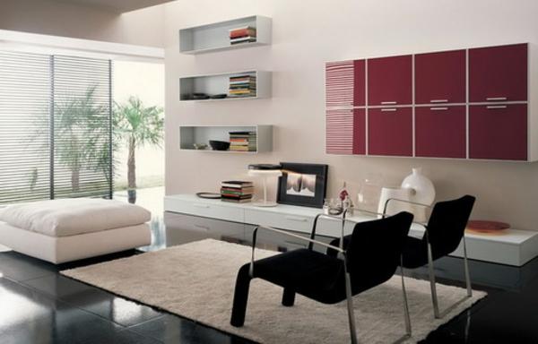 wohnzimmer einrichten - teppich in weiß