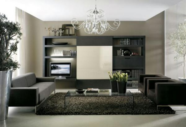 wohnzimmer einrichten - eleganter kronleuchter