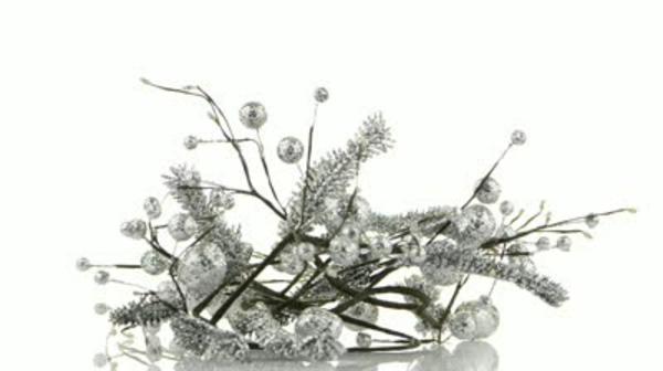weiße weihnachtsdeko - sehr schönes aussehen