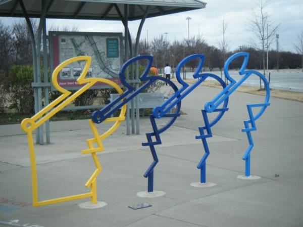 super-kreativ-gestalteter-Fahrrad-Ständer