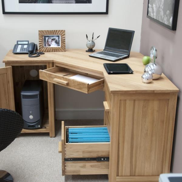 super-praktischer-PC-Schreibtisch-Holz-Eckschreibtisch