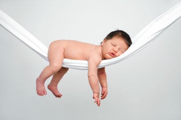 super-süßes-foto-baby-hängematte - weiße farbe