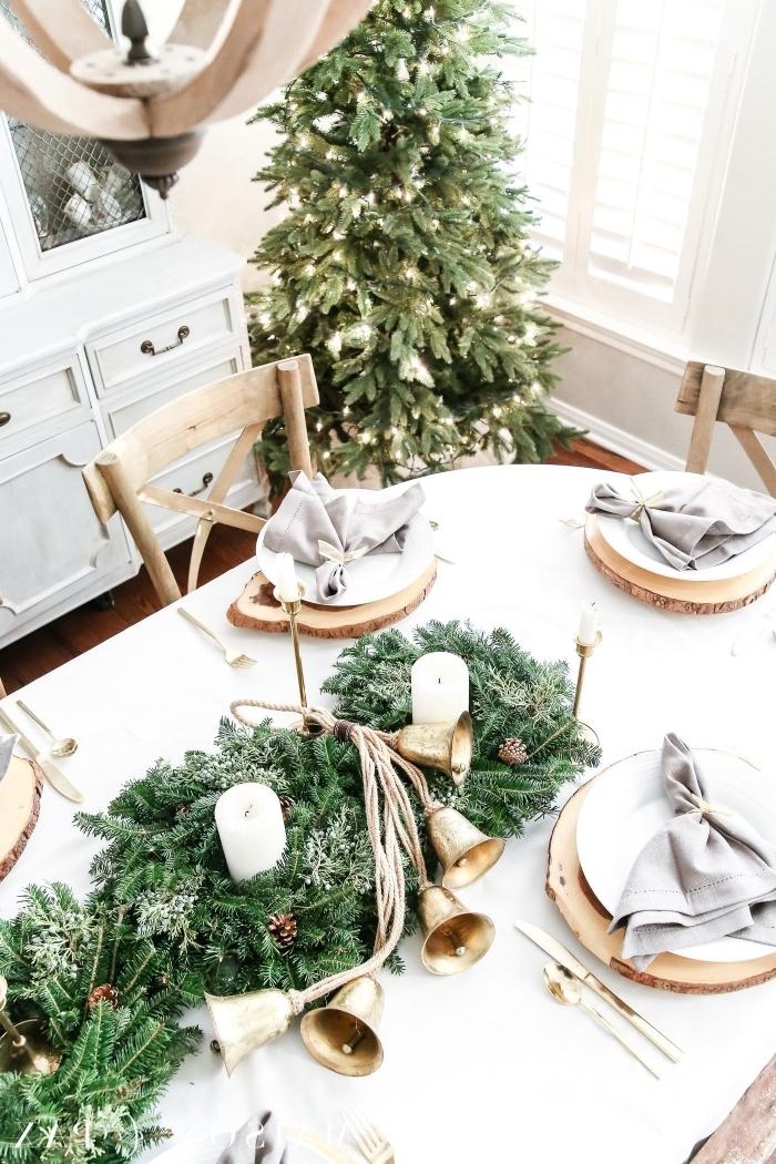 tischdeko weihanchten, weihnachtliche tischdekoration, wohnung festlich dekorieren, lichterketten