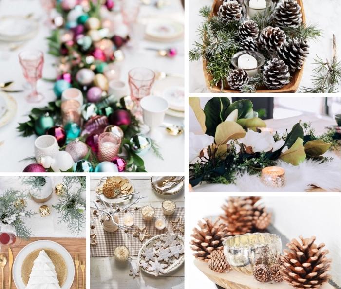 tischdeko zu weihnachten, diy ideen und anleitungen, selsbtgemachte tischdekorationen, festliche deko