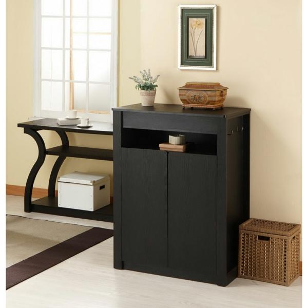 tolle-Wohnideen-für-das-Interior-Design-Flurmöbel-in-schwarzer-Farbe