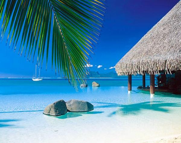 französich polynesien - steine im wasser