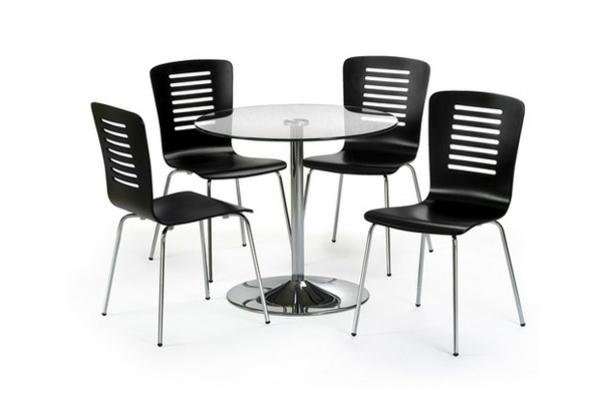 coole schwarze stühle für die küche - hintergrund in weiß