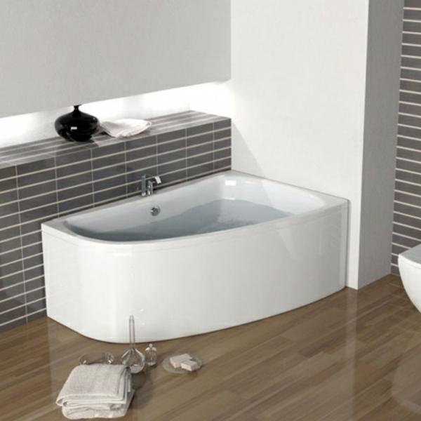 weiße-attraktive-eckbadewannen für moderne badezimmer