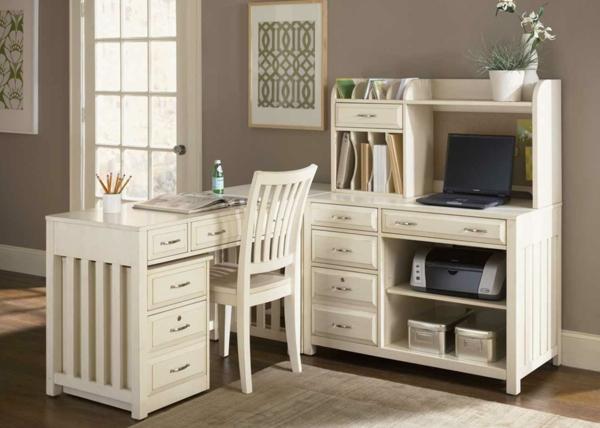 weißer-Schreibtisch-Schreibtisch-Holz-moderne-Schreibtische