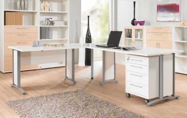 weißer-Schreibtisch-Schreibtische-Design-Büro-Schreibtisch