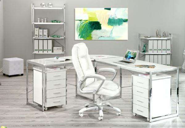 weißer-Schreibtisch-Schreibtische-Design-Schreibtisch-Weiß-Hochglanz