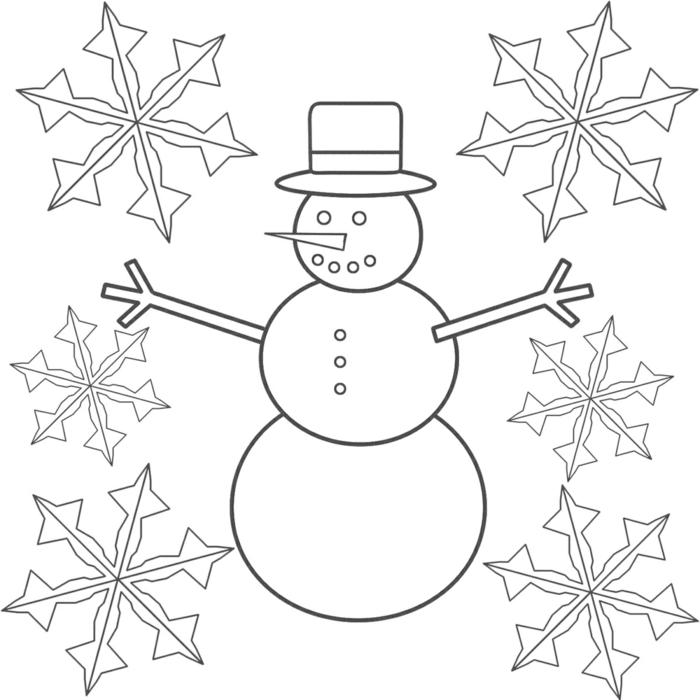 weihnachtendeko selber machen fenster vorlage für schneeflocken und schneemann basteln
