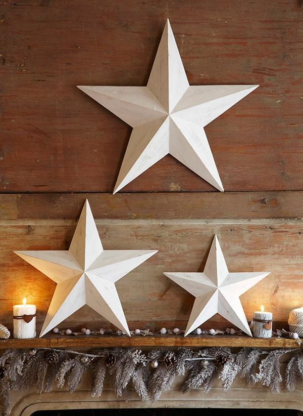 weihnachtsdeko-ideen-drei-weiße-sterne
