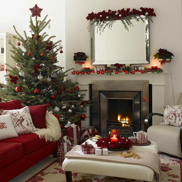 weihnachtsdeko-ideen-gemütliches-schönes-wohnzimmer