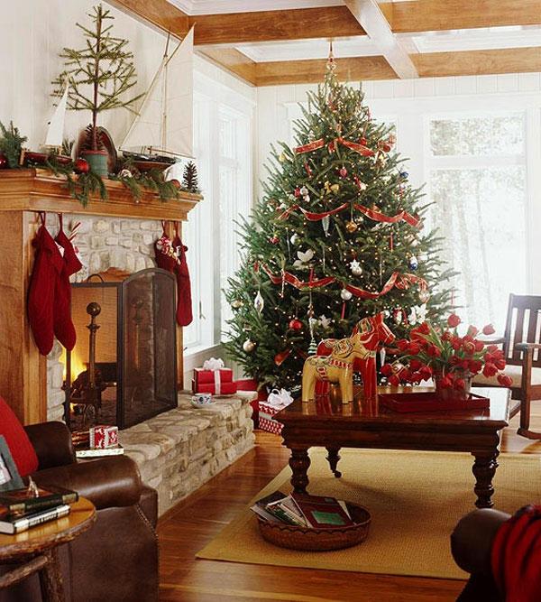 weihnachtsdeko-ideen-großzügiger-tannenbaum